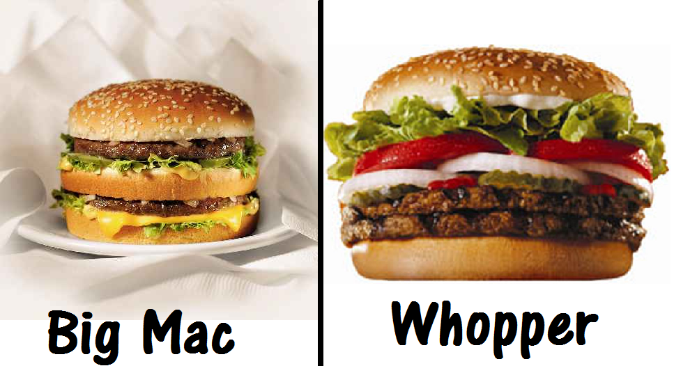 Big Mac vs Whopper