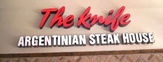 The Knife, viande et vin à l'argentine
